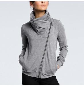 Women Oversized Sweatshirts Zipper Top Long Sleeve Autumn Winter Irregular Collar Female Outwear Ladies Japanese Clothing