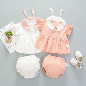 Ropa de diseñador para niños niñas bebé verano Bebé recién nacido Conejo oreja cortos pantalones cortos para niños pequeños Princesa Ropa boutique ropa B18