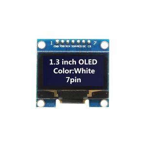 1.3 inç OLED Modülü Beyaz Renk 128X64 7 Pin OLED LCD LED Ekran Modülü arduino Diy için 1.3 SPI Iletişim Kiti