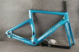 Disque Cipollini NK1K Carbon Road Cadre de vélo Fû à vélo Blue Carbon Road Cadreset / Cadre de carbone complet