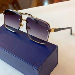 Yeni moda tasarımcısı güneş gözlüğü 1098 kare kristal kesme lens çerçevesi Basit ve cömert erkekler açık uv400 koruma gözlük