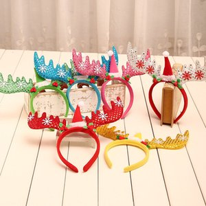 Christmas Headband Antler Sequin Christmas Hat Christmas Decorations Adult Children's Holiday Party Birthday Party Headwear Supplies