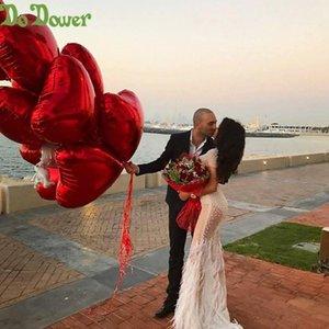 18inch 240pcs Kalp Aşk Balonlar Şişme Folyo Balon Düğün Valentine Günü Süsleri Helyum Balon I Love You Globos