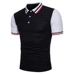 Verano para hombre Patchwork Polo Camisetas Moda Hombre Slim Fit de manga corta Camisetas Primavera Mens Designer Casual Clothing