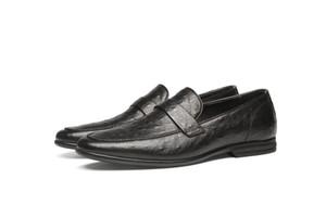Erkekler Ayakkabılar İş Resmi Giyim Deri Ayakkabı Erkek Kabartmalı Deri Hakiki Deri Rahat