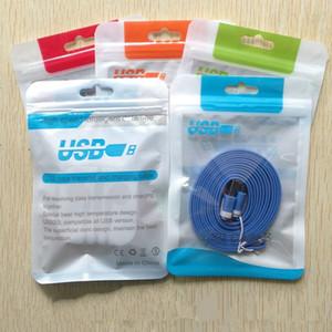 15 * 10.5 14 * 8 cm de plástico OPP bolsas zip bloqueo agujero de la caída de poli envases de bolsa para la caja del teléfono móvil del USB del cargador de batería cable embalaje al por menor