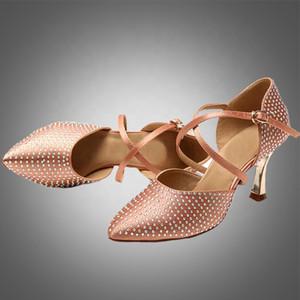 envío libre S5628 Señora moderna baila zapatos de salón de baile zapatos de baile de color de la piel de zapatos de baile de danza moderna