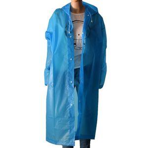 Moda EVA Unisex Raincoat espessamento Waterproof chuva Brasão Camping Waterproof Suit Rainwear com capuz Poncho Rainwear