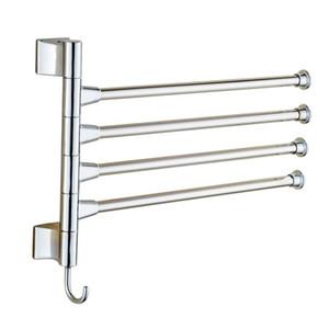 4 개 레이어 커튼 폴란드 욕실 수건 랙 홀더 연마 랙 홀더 하드웨어 액세서리 욕실 Haing 주최자 샤워