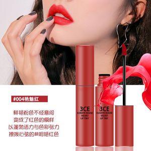 Mate impermeable líquido brillo de labios del lápiz labial del envío libre L5002 de terciopelo mate lápiz labial Lip Gloss Glaze 3CE Eunhye Casa mate de larga duración