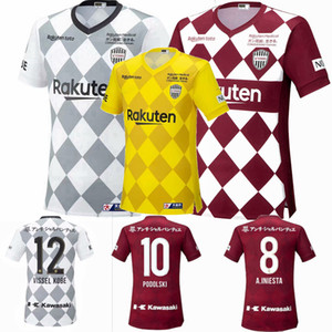 2020 2021 Vissel J1 лига Футбол Трикотажные Подольски DAVID VILLA A.INIESTA 20 21 дом вдали третий футбол рубашка