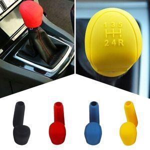 2Pcs Universal Manual Car Hand Brake Case Silicone Gear Head Shift Knob Cover Gear Shift Collars Handbrake Grip(Yellow) Arm Leg Warmers
