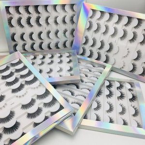 Luxury Thick mink false eyelashes set 16 pairs natural long hand-made fake lashes full strip lashes eye makeup accessory 6 models DHL Free