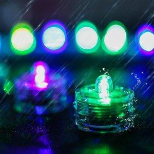 Wasserdichte Tee-Licht versenkbare Mini LED-Licht Geburtstag Hochzeit Dekoration Kerze Bar Cup Dekoration Beleuchtung Romantische LED-Kerze