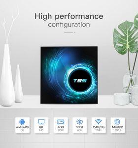 T95 TV Box Android 10 4GB 32GB Allwinner H616 Quad Core 2.4&5G Wifi 1080P H.265 4K TVBOX Set top box
