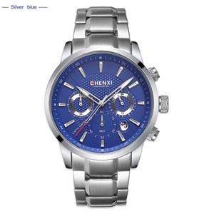 Chenxi Relógios Homens Top Luxo Marca Negócios Militar relógio de quartzo Mens Vestido Sports pulso Homem Relógio relogio masculino