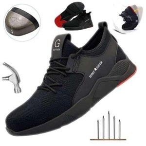 Chaussure de sécurité Femmes Hommes acier Toe Cap Sport de plein air Travail randonnée respirante Chaussures de protection Chaussures Baskets Bottines antidérapante