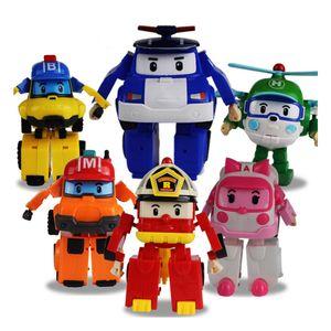 Super Hot 6 Typen SUPER Shape-Verschiebung Roboterform schieb Geschenk Auto Spielzeug der Kinder ihre Gestalt verändern Polizeiauto Kinder