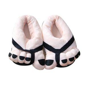 Unisex yumuşak peluş büyük ayaklar sevimli Cartton severler çift ayakkabı kış Kaymaz yumuşak kış sıcak ev Terlikleri zapatos de mujer