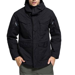 HEFLASHOR 2019 Men's Waterproof Mountain Jacket Waterproof Windbreaker Warm Parka Outdoor Winter Trench Adult Slim Coat T191029
