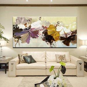Astratta moderna della tela pittura di arte della parete poster Flowers Stampe su tela di canapa per la decorazione della casa Living Room