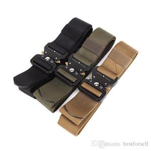 New Militar tático Fivela Nylon cintura clássico Belt Designer Caminhadas Camping Multifunctional Equipment Cintura Exteriores Cintos ajustáveis