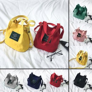 Local Stock Brand New Ladies Girls Small Canvas Cross Body Over Shoulder Shopping Bags Botton Pockets