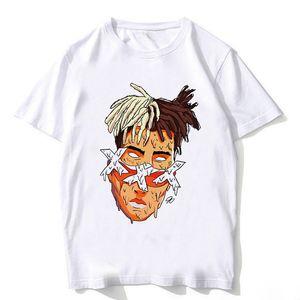 Hombres camiseta de Hip Hop XXXtentacion gráfica de calidad superior del algodón S-XL Camisas de hombre 100% de rap camiseta Así sálvame antes de que caiga