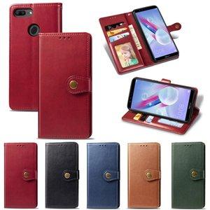Круглый Cilp Бизнес Бумажник дела для Huawei Honor 9 Lite Pure Color кожаный чехол Kickstand (Model: Honor9Lite)