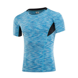 Men Boys Sports Shirts Short Sleeve Quick Dry Slim Running Fitness Gym T-shirt Sports Training Compression Tops