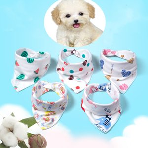 Reversible Cotton Pet Bibs Bandanas Accessories Feeding Cloth for Newborn Dogs Cats Puppy Saliva Towel Scarf Baby Boys Girls Bib