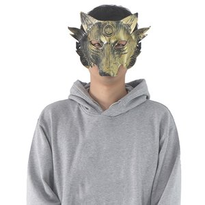 Halloween Horror Full Face Mask взрослых мужчин и женщин Оборотень убийство Маска Волчья Голова Маскарад Смешной Horror