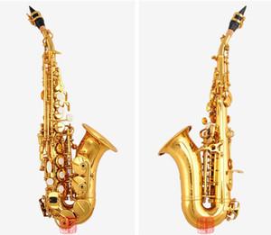 Янагисава лучшее качество лак золото изогнутый саксофон S-992 сопрано саксофон Bb музыкальный инструмент японская модель с мундштуком. дело