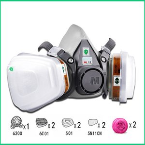 9in1 6200 Half Facepiece Gas Mask Respirator With 6001 2091 Filter Fit Painting Spraying Dust Proof