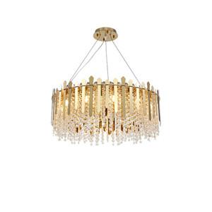 Современная роскошь Золото Круглого Металл Крите украшение Творческого Главной Гостиной лампа Подвеска Свет PA0618