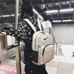 NIK Double Shoulder Bag 2019 Neue koreanische Ausgabe Freizeit Campus Middle School Students'Bookbags und Herren Trend Reiserucksäcke Mode