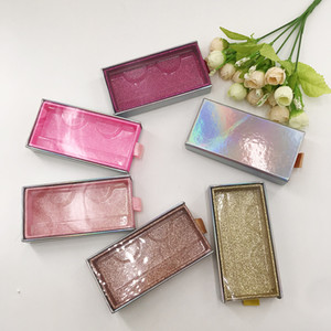 Verpackung Glitter Lash Mink Wimpern Fall Leere Make-up Wimpern Lagerung witout Wimpern Diahalter Wimper Fall