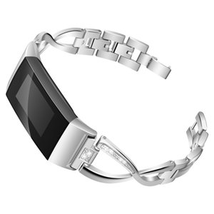 Bling Bands Compatible con Fitbit Charge 3 Reemplazo para mujeres, correa de metal ajustable Accesorios Pulsera para Fit bit Charge 3