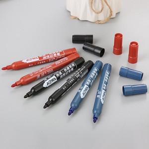 Permanente tinta preta Caneta oleosa impermeável para Papel CD Tecido Logística Penas de marcador Graffiti Supplies Stationery Office