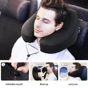 H Shape Inflatable Travel Neck Pillow Folding Lightweight Nap Neck Pillow Car Seat office Airplane sleeping Travel