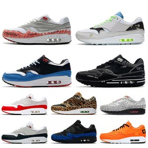 Stock x Nike Air Max 1 Just do it off white Sketch To Shelf Schematic White Black Script Running shoes for men women OG Anniversary Red Animal Pack Trainers Sneakers