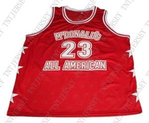 custom Michael #23 Mcdonald's All American Basketball Jersey сшитый на заказ любое количество имен мужские женские молодежные баскетбольные майки
