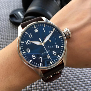 Wholesale Luxury Wristwatch Big Pilot Midnight Blue Dial Automatic Men&039;s Watch 46MM Men Mens Watch Watches