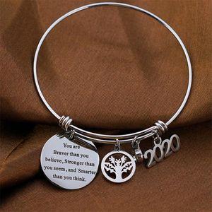 1PC Snap Jewelry 2020 Graduation Bracelet adjustable Wire Bangle Snap Button Bracelet for College Graduation Gift 25mm