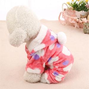 Leopard Dogs Hoodies Pet Ropa para perros Coral Velvet Keep Warm Winter Sweater Heart Pet Apparel Puppy Nueva moda 8 5hy Uu