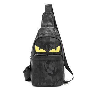 2019 novo design pu peito saco de couro pequeno monstro sling bag carteira presente grande capacidade bolsa crossbody bags