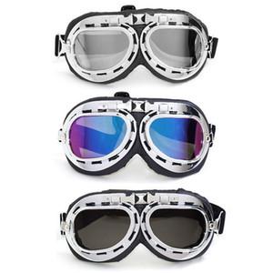 Retro Motorcycle Glasses Rider Helmet Moto Glasses 100% UV400 Vintage Classic Glasses for Moto Scooter ATV Moto Cross Biker