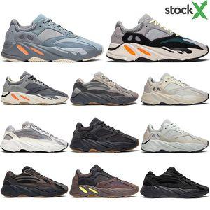 Adidas 700 con i calzini liberi nuova moda corridore dell'onda inerzia Tephra Solid Scarpe Grigio Nero Utility Vanta Runing donne degli uomini del progettista statici Sneakers