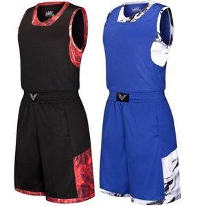 O basquetebol personalizado Personality dos homens ajusta-se com short, terno feito sob encomenda do terno de basquetebol, treinamento grande da competição do código da universidade dos jérseis veste