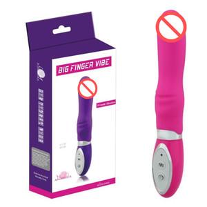 Силиконовый G-Spot вибратор,10 Скорость большой палец Vibe вибратор клитор Vbirators водонепроницаемый продукты секса Секс Игрушки для женщин розовый/фиолетовый